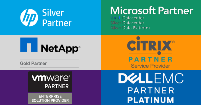 HP, Microsoft, Netapp, Citrix, VMware and Dell Partner